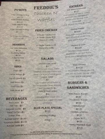 Freddie's Chicken N' Waffles, New Orleans, LA Report #213